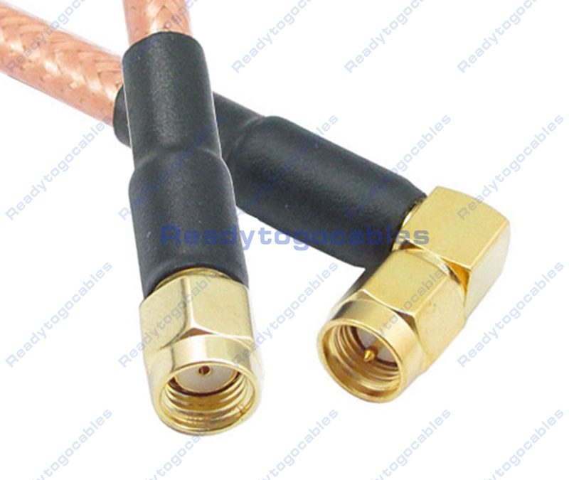 RP SMA Male To RA SMA Male RG142 Cable