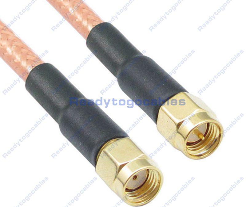 SMA Female To RA SMA Male RG142 Cable