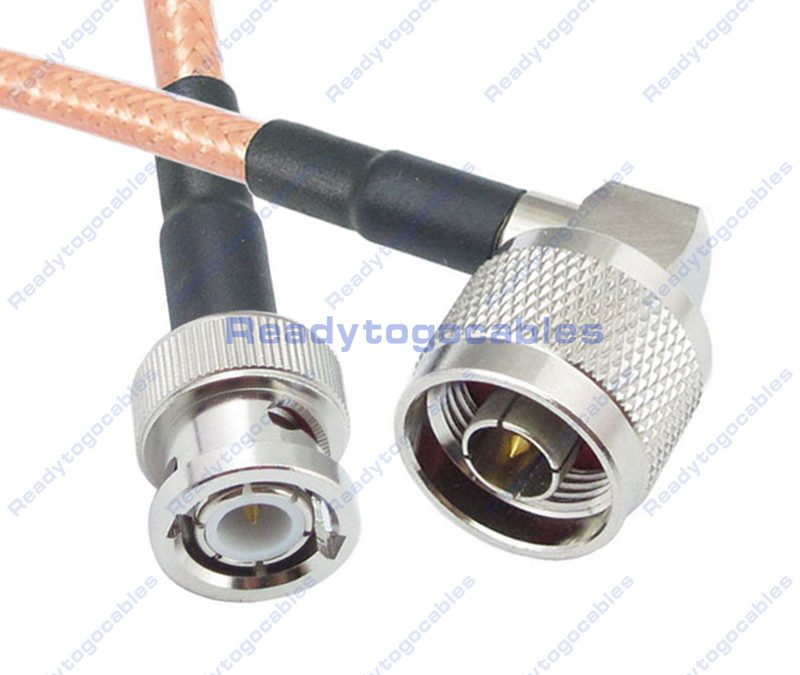 BNC Male To RA N-TYPE Male RG142 Cable