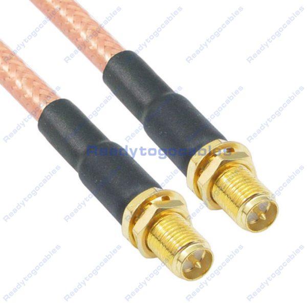 RP SMA Female To RP SMA Female RG142 Cable