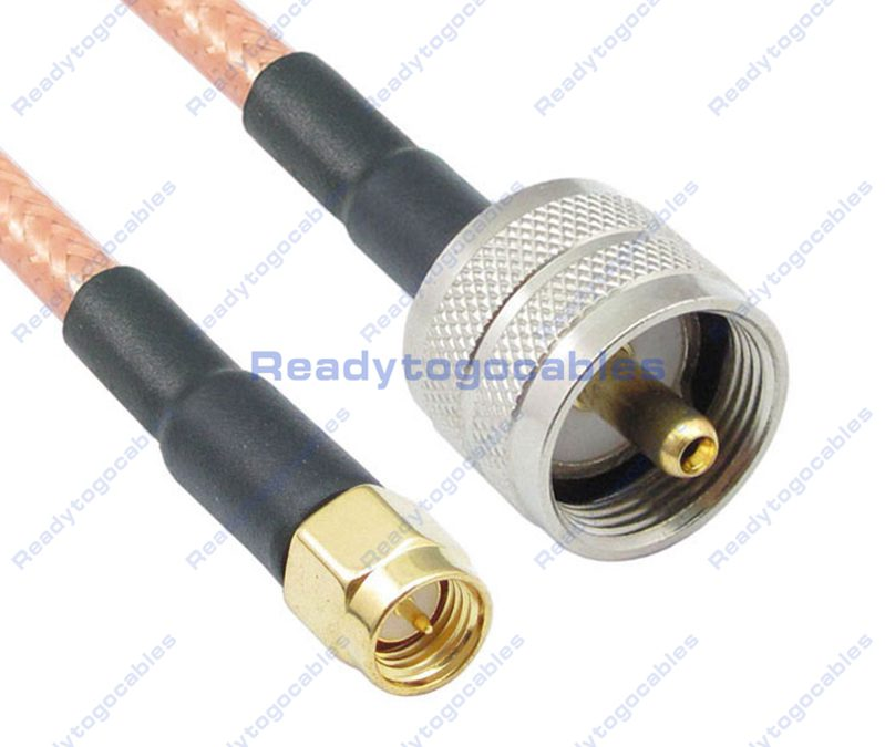 SMA Male To UHF Male PL259 RG142 Cable
