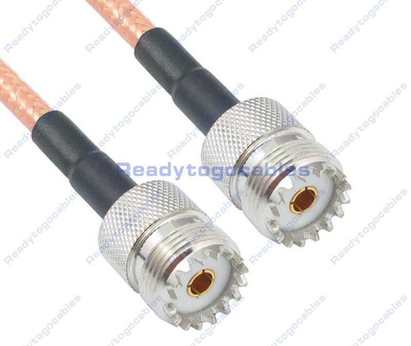 UHF Female SO239 To UHF Female SO239 RG142 Cable