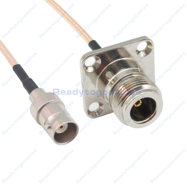 BNC Female To Panel-Mount N-TYPE Female RG316 Cable