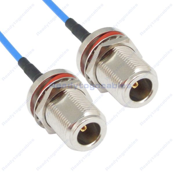 N-TYPE Female Bulkhead Waterproof With Nut Washer To N-TYPE Female Bulkhead Waterproof With Nut Washer RG405 Cable