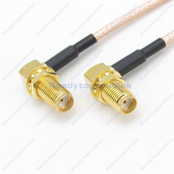 RA SMA Female To RA SMA Female RG316 Cable