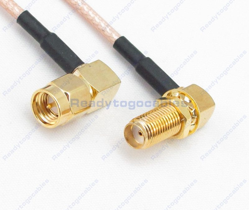 RA SMA Male To RA SMA Female RG316 Cable