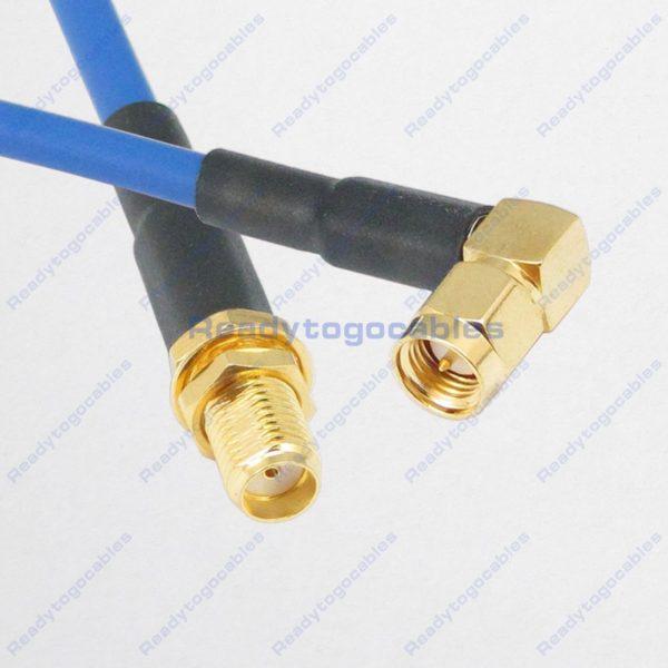 RA SMA Male To SMA Female RG402 Cable
