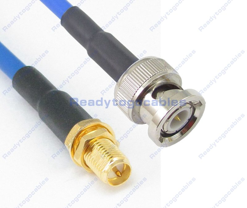 RP SMA Female To BNC Male RG402 Cable