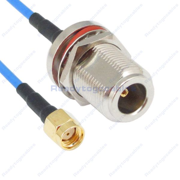 RP SMA Male To N-TYPE Female Bulkhead Waterproof With Nut Washer RG405 Cable