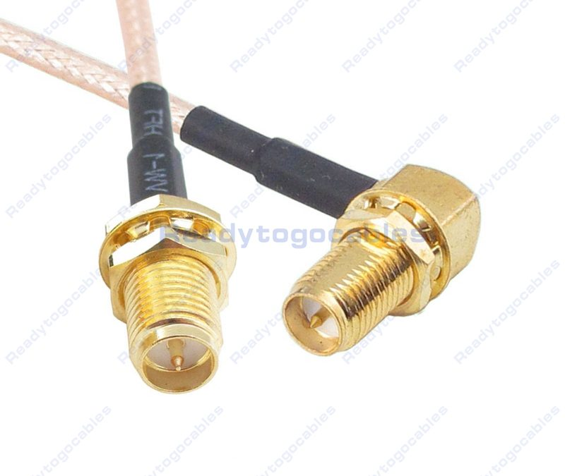 RP SMA Male To RA RP SMA Male RG316 Cable
