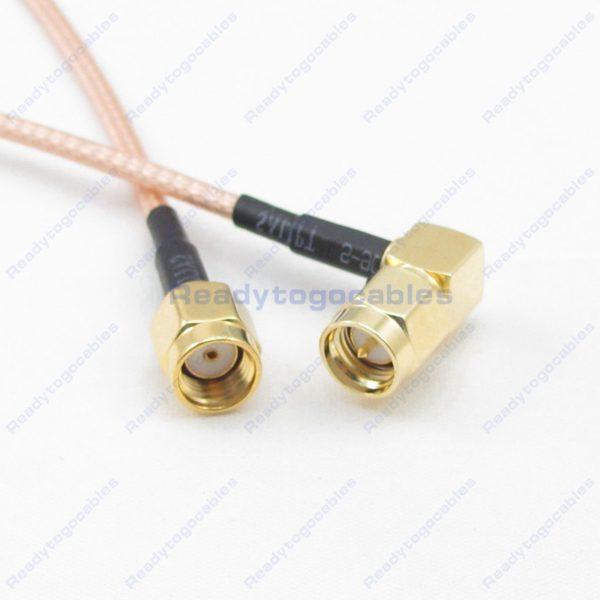 RP SMA Male To RA SMA Male RG316 Cable