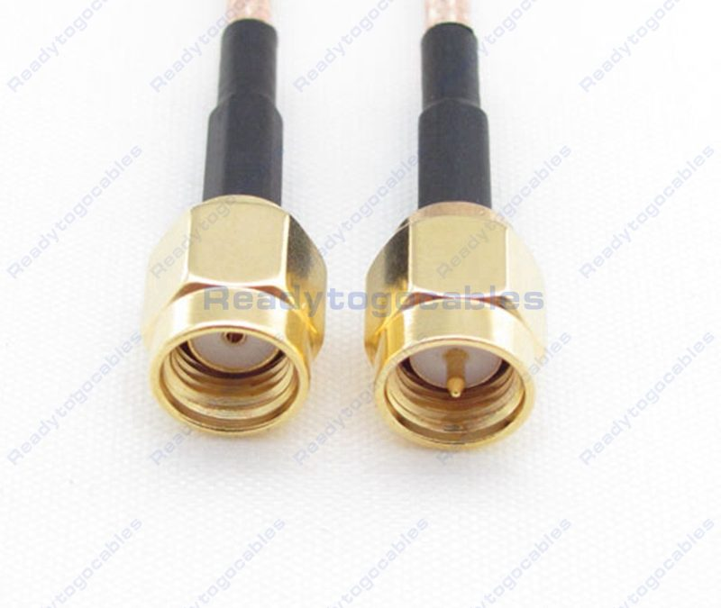 RP SMA Male To SMA Male RG316 Cable