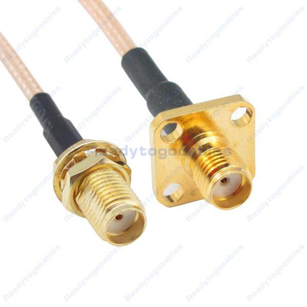 SMA Female To Panel-Mount SMA Female RG316 Cable