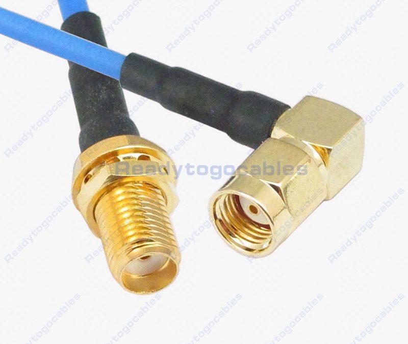 SMA Female To RA RP SMA Male RG405 Cable