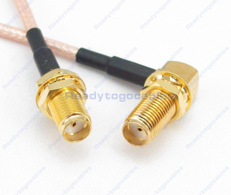 SMA Female To RA SMA Female RG316 Cable