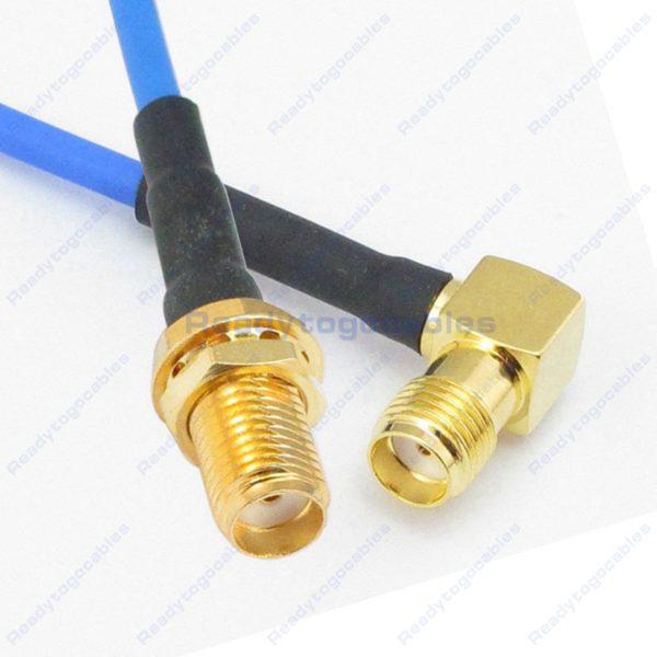 SMA Female To RA SMA Female RG405 Cable