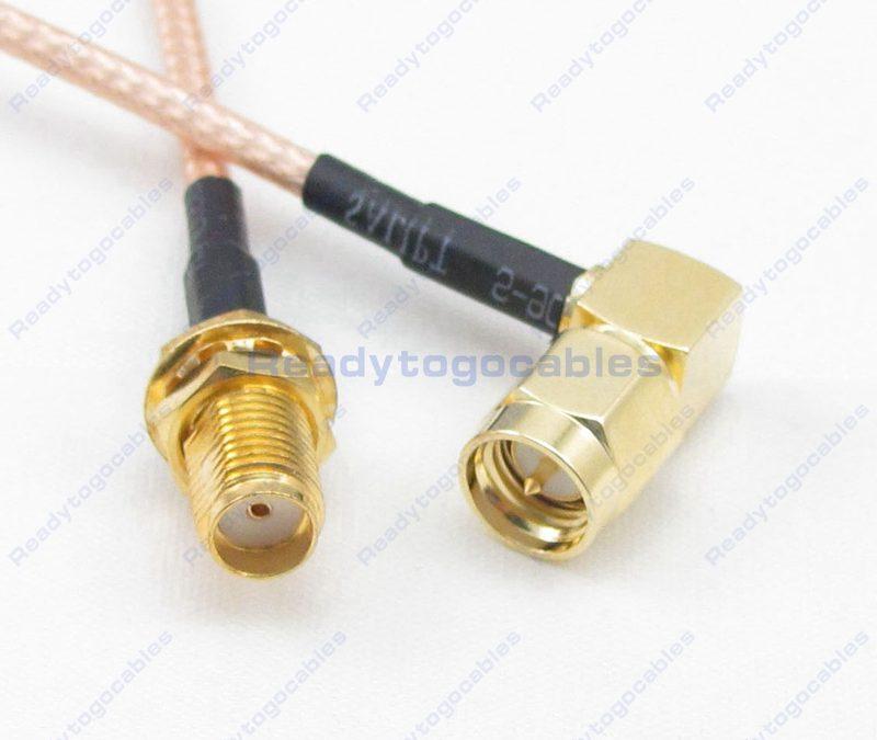 SMA Female To RA SMA Male RG316 Cable