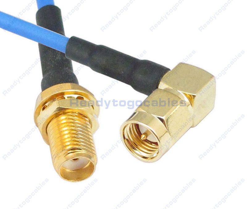SMA Female To RA SMA Male RG405 Cable