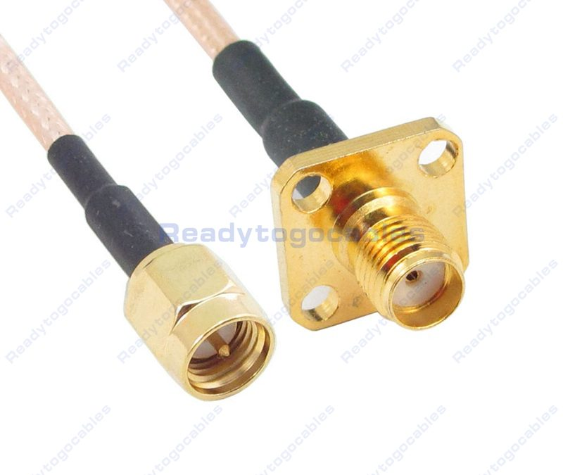 SMA Male To Panel-Mount SMA Female RG316 Cable
