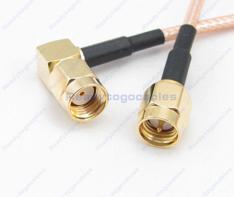 SMA Male To RA RP SMA Male RG316 Cable