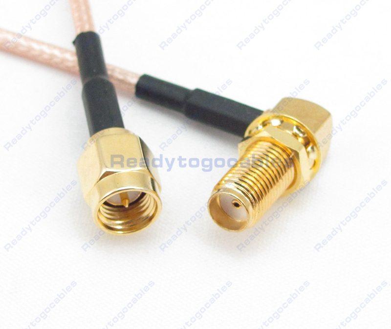 SMA Male To RA SMA Female RG316 Cable