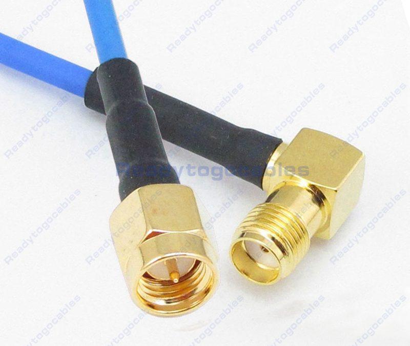 SMA Male To RA SMA Female RG405 Cable
