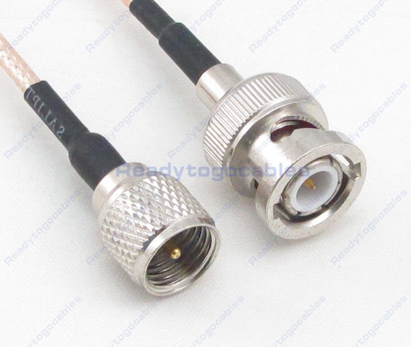 BNC Male To MINI-UHF Male RG316 Cable