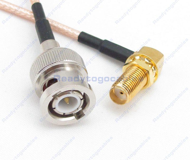 BNC Male To RA SMA Female RG316 Cable