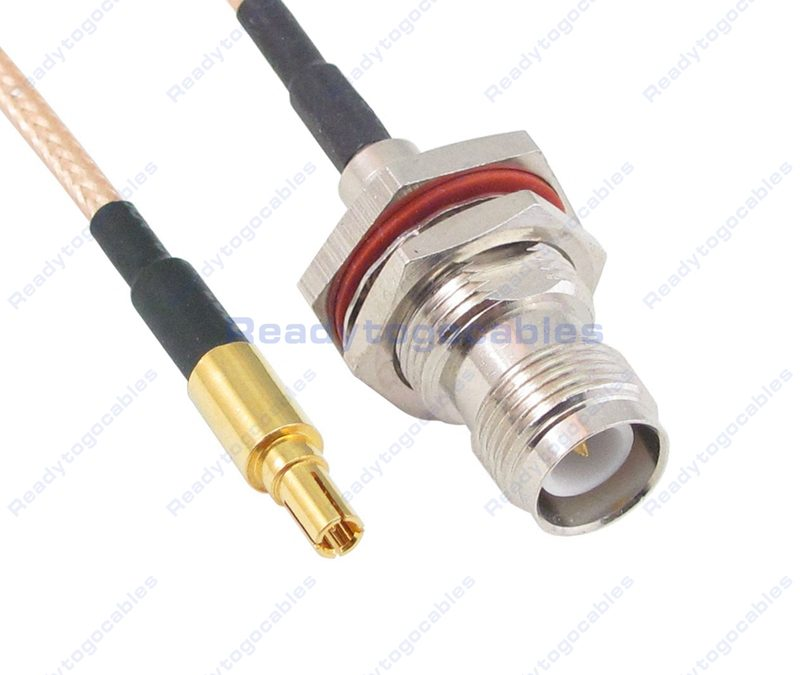 CRC9 Male To RP TNC Female Bulkhead Waterproof With Nut Washer RG316 Cable
