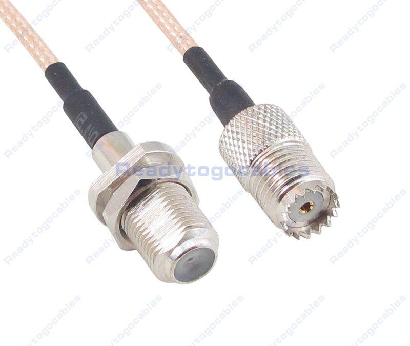 F Female To MINI-UHF Female RG316 Cable