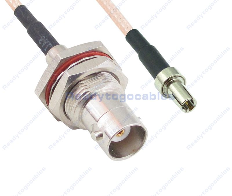 BNC Female Bulkhead Waterproof With Nut Washer To TS9 Male RG316 Cable
