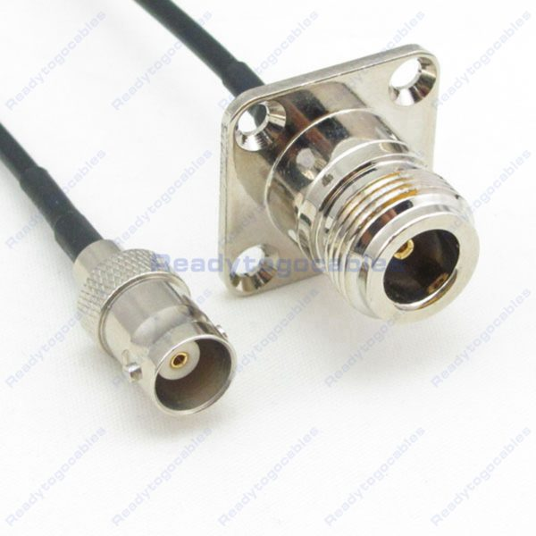 BNC Female To Panel-Mount N-TYPE Female RG174 Cable