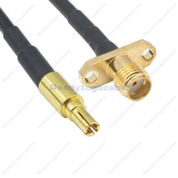 CRC9 Male To Panel-Mount 2 SMA Female RG174 Cable