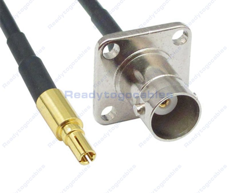 CRC9 Male To Panel-Mount BNC Female RG174 Cable