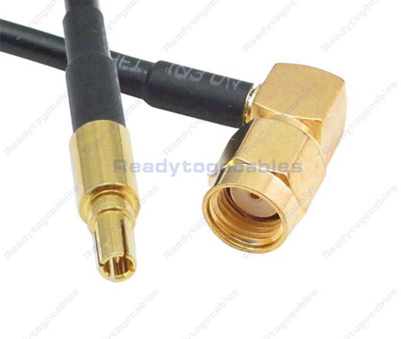 CRC9 Male To RA RP SMA Male RG174 Cable