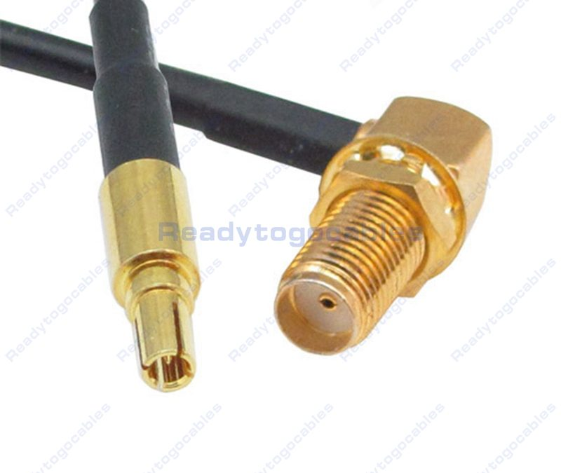 CRC9 Male To RA SMA Female RG174 Cable