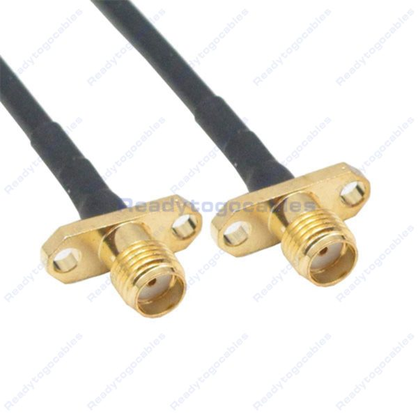 Panel-Mount 2 SMA Female To Panel-Mount 2 SMA Female RG174 Cable