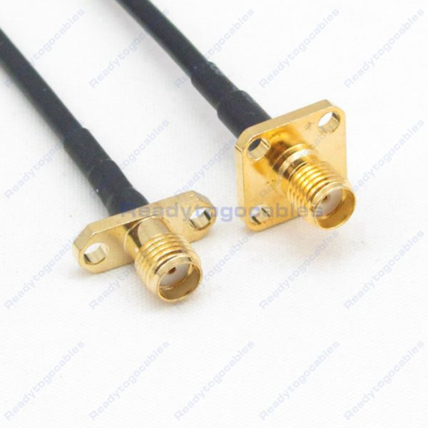 Panel-Mount 2 SMA Female To Panel-Mount SMA Female RG174 Cable