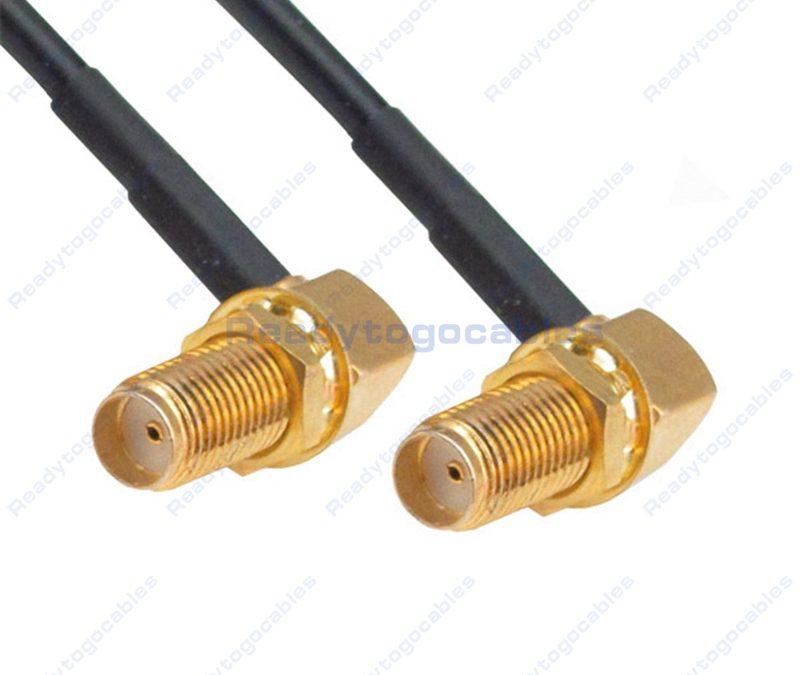 RA SMA Female To RA SMA Female RG174 Cable