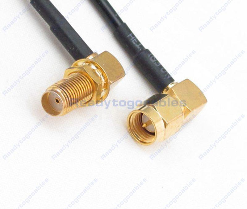 RA SMA Female To RA SMA Male RG174 Cable