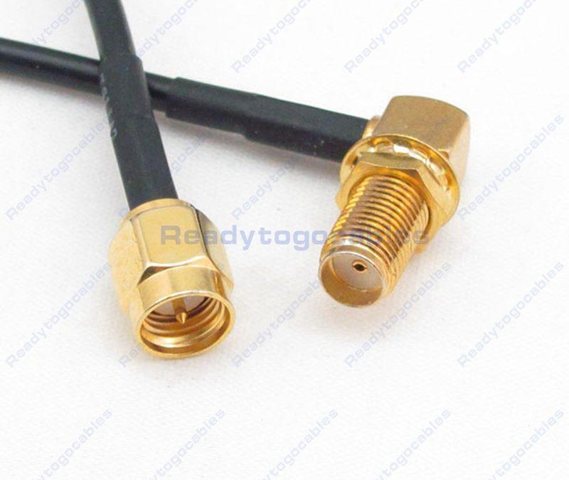 RA SMA Female To SMA Male RG174 Cable