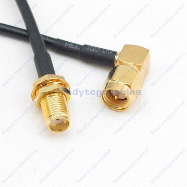 RA SMA Male To SMA Female RG174 Cable