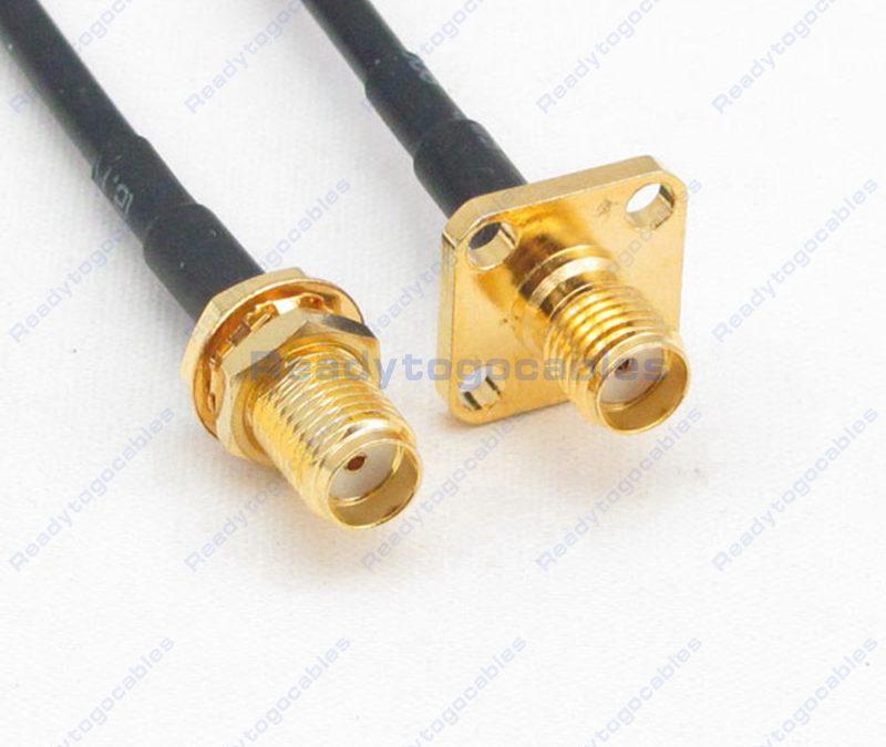 SMA Female To Panel-Mount SMA Female RG174 Cable
