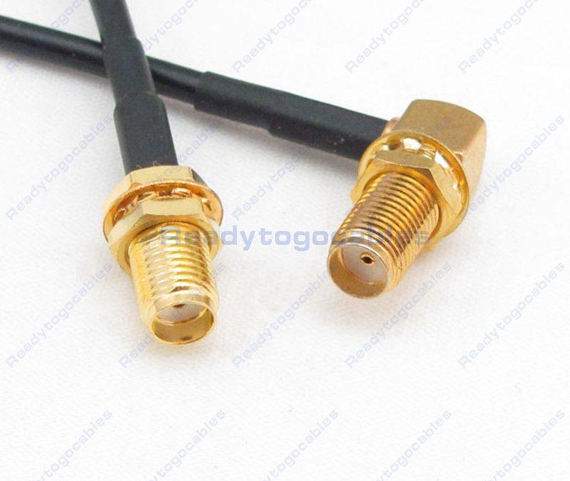 SMA Female To RA SMA Female RG174 Cable