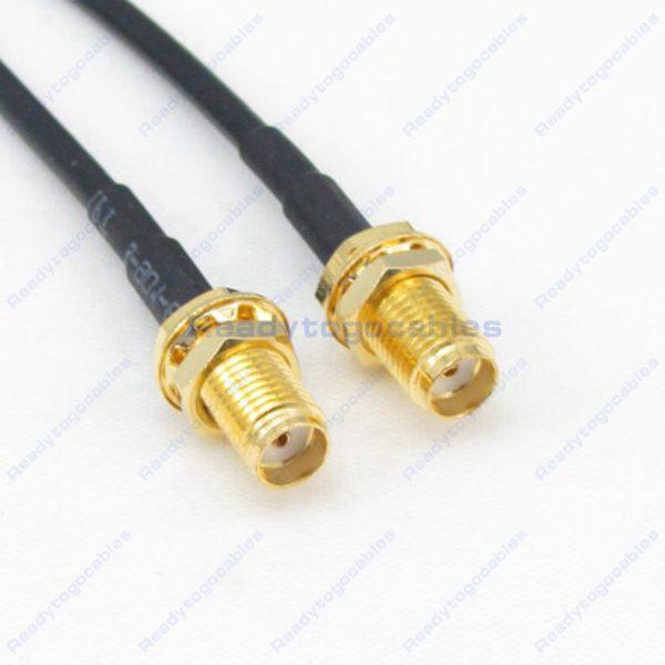 SMA Female To SMA Female RG174 Cable