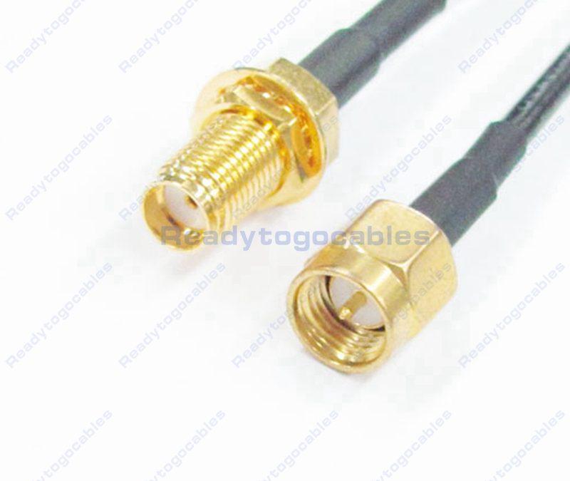 SMA Male To SMA Female RG174 Cable