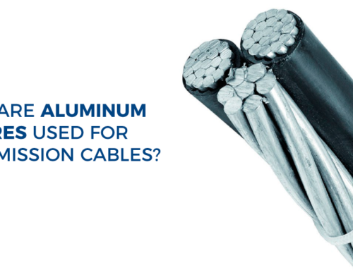 Why are aluminum wires used for transmission cables?